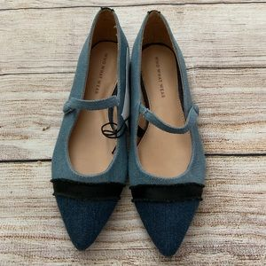 Who What Wear Shoes - Who What Wear Denim Mary Jane Ballet Flats